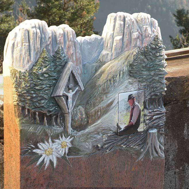 Lapide in granito di Pietracrea